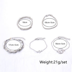 Simple Atmospheric Fashion Bracelet Metal Shell Maps Bohemian Wind Women Jewelry Bracelet Wedding Accessories