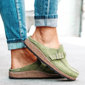 Women summer slippers spring sandals fashion solid buckle women flats shoes casual beach ladies plus size summer sandals