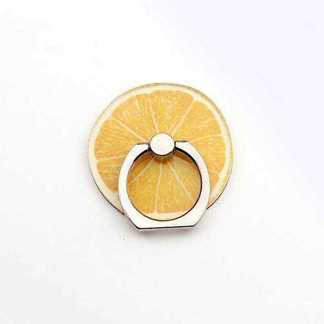 New Arrival Mobile Phone Holder Metal Finger Ring Holder Cute Lemon Fruits Phone Ring Holder Phone Stand Support