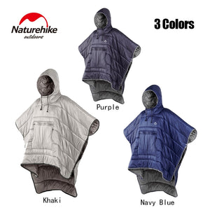 Naturehike Lazy Sleeping Bag Cloak Style Unisex Waterproof Portable Outdoor Camping Warm Sleeping Quilt Winter Travel Poncho