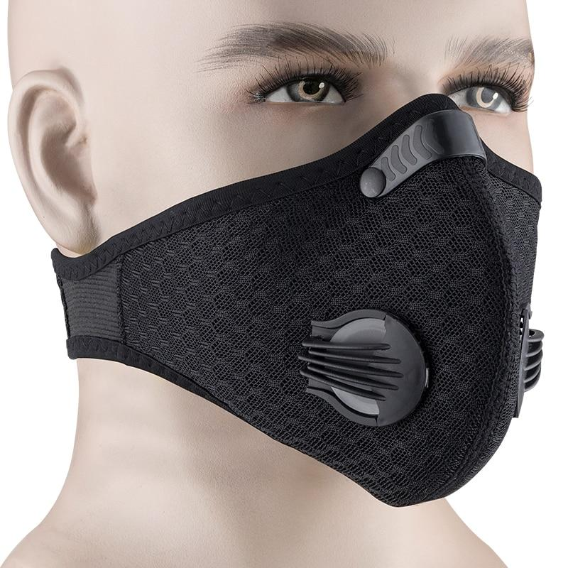 Cycling Face Mask Filter KN95 Anit-fog Breathable Dustproof Bicycle Respirator Sports Protection Mouth-Muffle Dust Mask