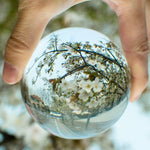 Clear Glass Crystal Ball Healing Sphere Figurines Miniatures PPhotography Props Lensball Bridal Wedding Party Decoration Tool