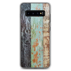 Blue wood weathered Samsung Phone Case