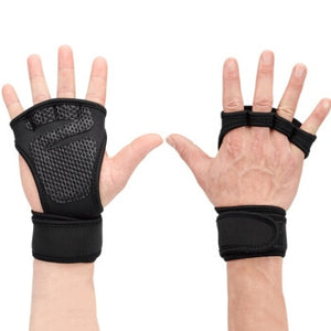 New 1 Pair Weight Lifting Training Gloves Women Men Fitness Sports Body Building Gymnastics Grips Gym Hand Palm Protector Gloves