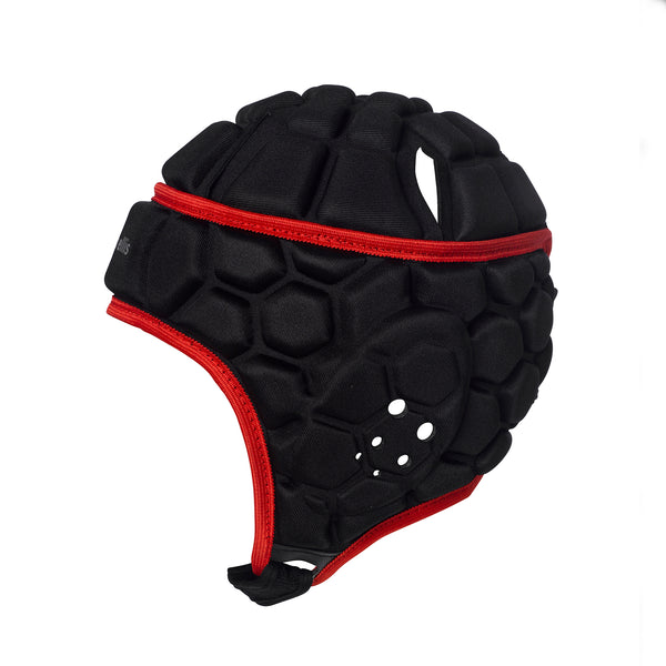Rugby Test Headguard - Black/Red (SCUTS Rugby)