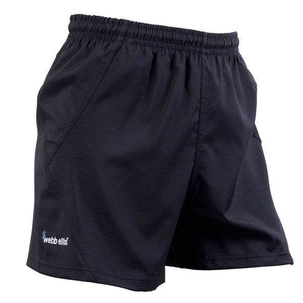 Accelerate Rugby Shorts WITH POCKETS - Black
