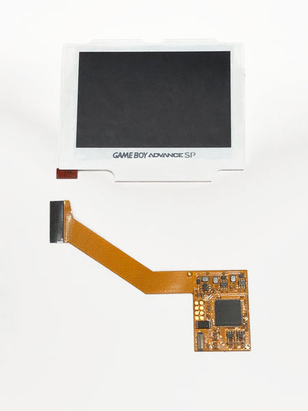 Game Boy Advance SP IPS Backlight Kit with White Screen Lens for AGS 001 & 101