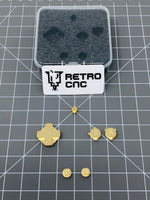 Game Boy Advance SP Brass Buttons by RetroCNC