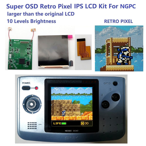Neo Geo Pocket Color OSD Q5 IPS Backlight Mod kit