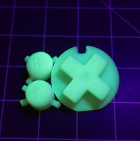 JellyBelly Game Boy Color Custom Green GITD Buttons