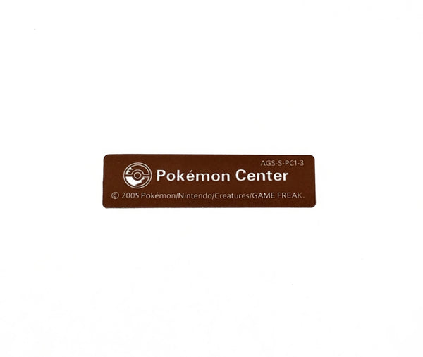 Game Boy Advance SP 2005 Pokemon Center Pikachu Edition Sticker/Label