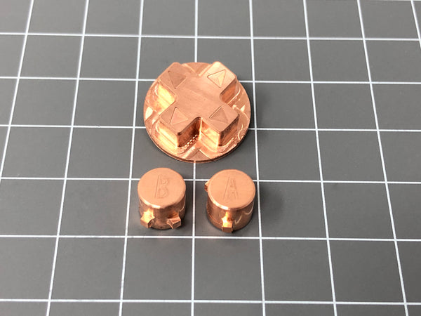 Game Boy Advance Copper Buttons by RetroCNC