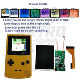 Game Boy Color IPS Backlight with Color Palettes and Button Controls