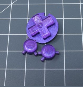 JellyBelly Game Boy Color Custom Purple Berry Candy Buttons