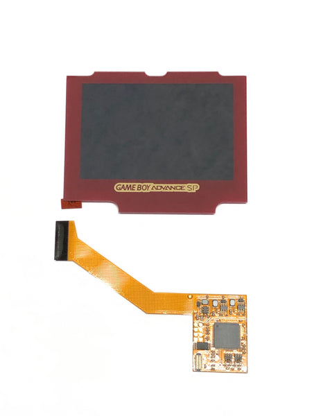 Game Boy Advance SP IPS Backlight Kit with Red Screen Lens for AGS 001 & 101