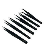 6PCS Precision Tweezers Set, Upgraded Anti-Static Stainless Steel Curved of Tweezers, for Electronics, Laboratory Work, Jewelry-Making, Craft, Soldering, etc,