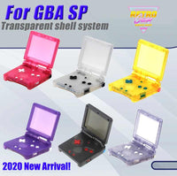 Game Boy Advance SP Clear Housings with Glow in the Dark Pads