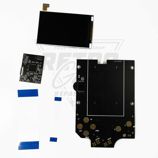Game Boy DMG-01 Backlight IPS LCD Screen Mod Kit v3 RIPS