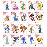Complete 20 Pieces Super Smash Brothers with Storage Book Amiibo NFC Cards