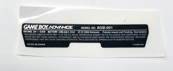 GameBoy Advance [GBA] Model Sticker