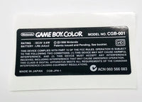 Game Boy Color [GBC] Model Sticker Label [Made in Japan]