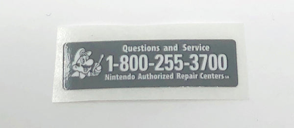 GameBoy Advance [GBA] Service Sticker