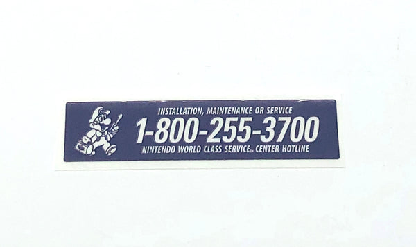 Game Boy Original DMG-01 Service Sticker