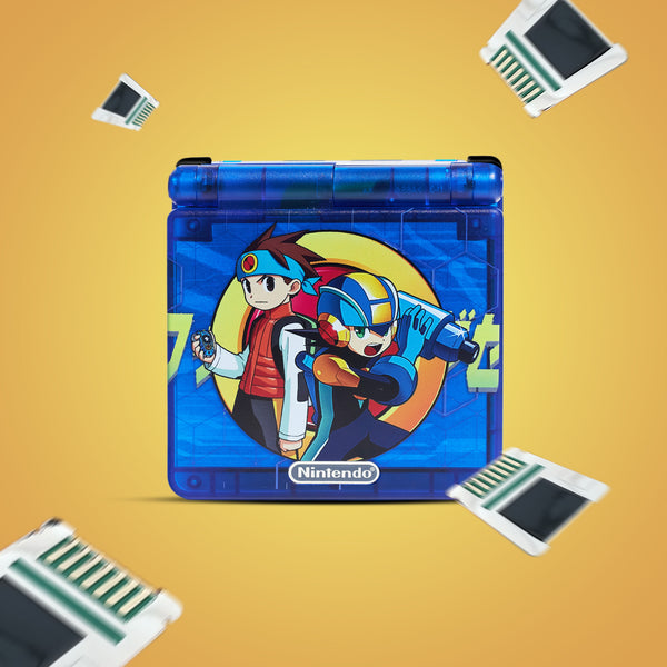 Game Boy Advance SP UV Printed IPS Ready Shell Mega Man Battle Network