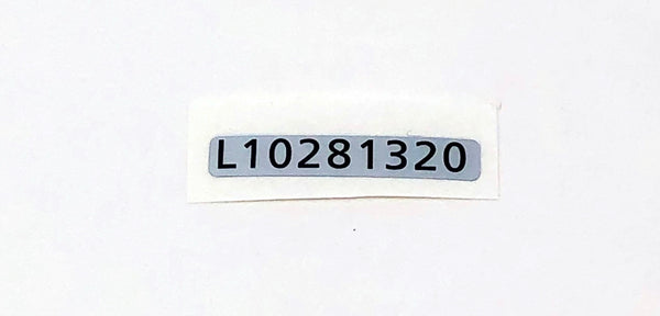 Game Boy Light Serial Number Label Sticker [L10281320]