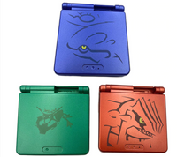 Game Boy Advance SP Pokemon Groudon Kyogre Rayquaza Housings Shells