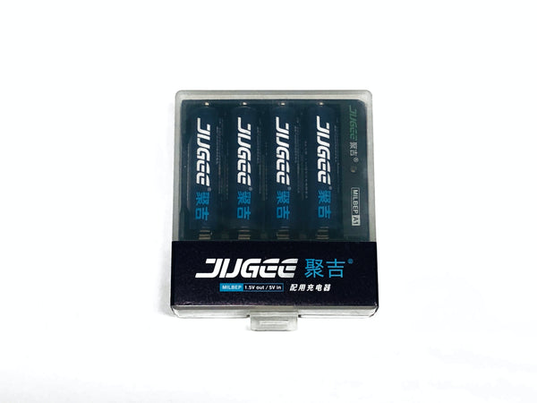 Jugee AA Rechargeable 1.5V Constant Current Lithium Batteries USB-C Charger
