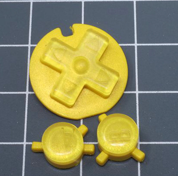 JellyBelly Game Boy Color Custom Yellow Lemon Candy Buttons