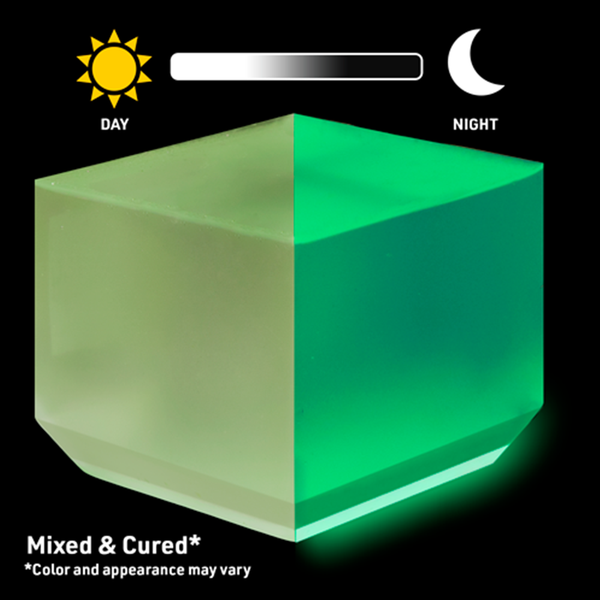 "WiseGlow ""Lime Light"" Glow In The Dark Epoxy Colorant Powder"