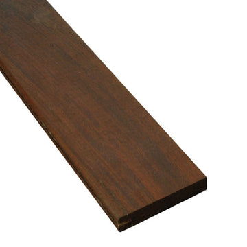 1 x 4 Ipe Wood One-Sided Pregrooved Decking Sample