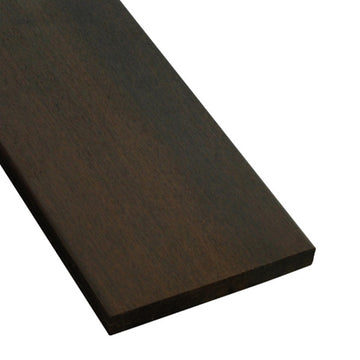 1 x 6 +Plus® Ipe Wood One-Sided Pregrooved Decking Sample
