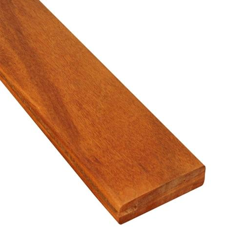1 x 4 Tigerwood Wood One-Sided Pregrooved Decking Sample
