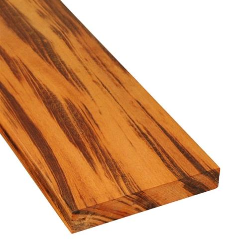 5/4 x 6 Tigerwood Wood One-Sided Pregrooved Decking Sample