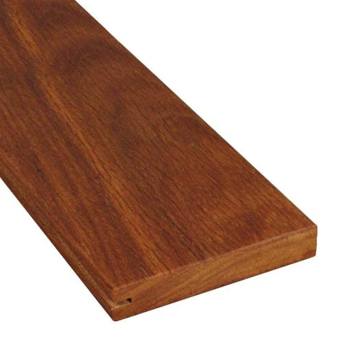 5/4 x 5 Cumaru Wood One Sided Pregrooved Decking
