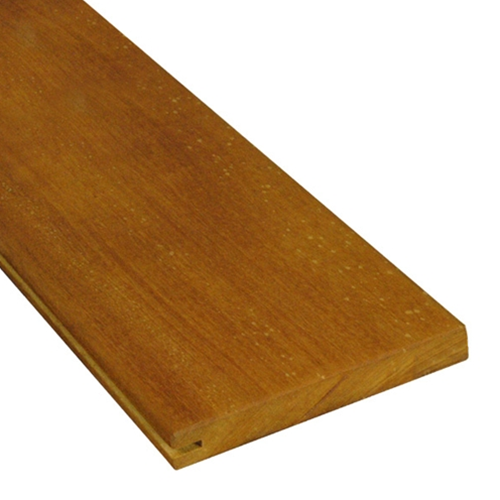1 x 6 Garapa Wood One-Sided Pregrooved Decking Sample