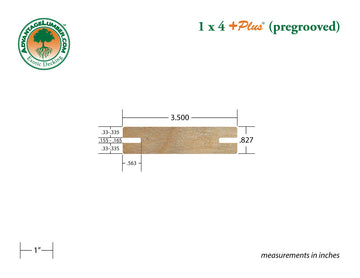1 x 4 +Plus® Garapa Wood Pregrooved Decking (21mm x 4)