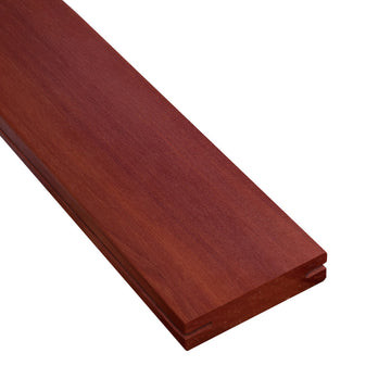 1 x 4 Massaranduba Wood Pregrooved Decking Sample
