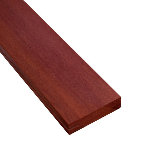 1 x 4 Massaranduba Wood One-Sided Pregrooved Decking Sample