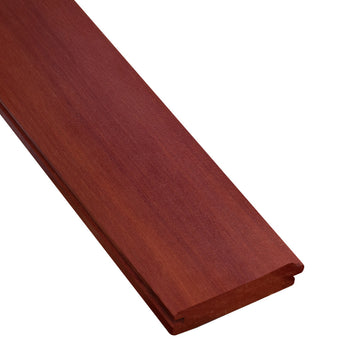 1 x 4 Massaranduba Wood V-Groove Ceiling Sample