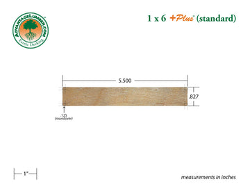 1 x 6 +Plus® Garapa Wood Decking (21mm x 6)