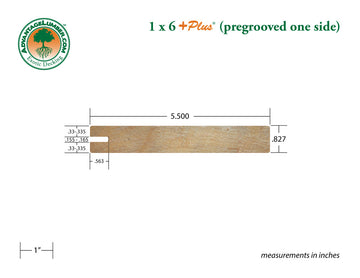 1 x 6 +Plus® Garapa One Sided Pregrooved Decking (21mm x 6)
