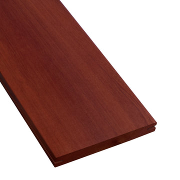 1 x 6 Massaranduba Wood Pregrooved Decking Sample