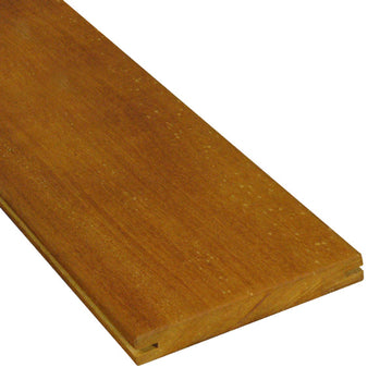1 x 6 +Plus® Garapa Wood Pregrooved Decking Sample