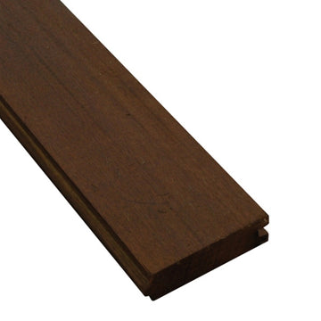 5/4 x 4 Ipe Wood T&G Decking Sample