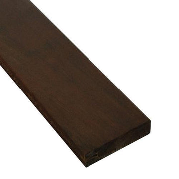 5/4 x 4 Ipe Wood One-Sided Pregrooved Decking Sample