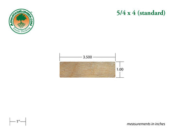 5/4 x 4 Garapa Wood Decking Sample